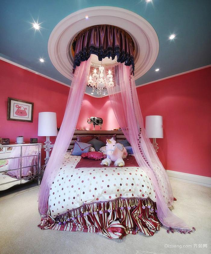 欧式田园风格别墅室内精美儿童房装修效果图