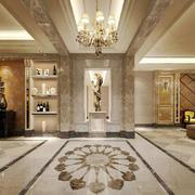 欧式风格大户型室内精致过道吊顶设计装修效果图