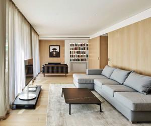 130平米后现代风格极简主义公寓装修效果图案例