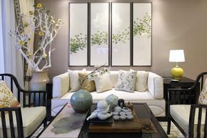 100平米简约新中式风格室内装修效果图赏析