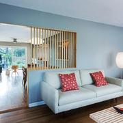 现代简约美式风格客厅隔断设计装修效果图赏析