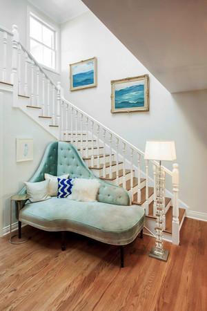 清新美式风格别墅楼梯装修效果图赏析