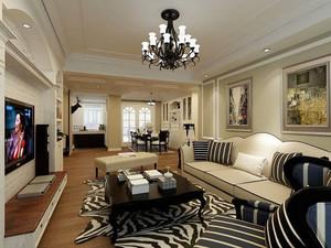 189平米复古美式风格复式楼室内装修效果图赏析