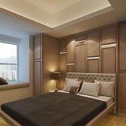简欧风格精致卧室背景墙装修效果图