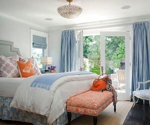 简欧风格温馨浅色卧室窗帘装修效果图赏析