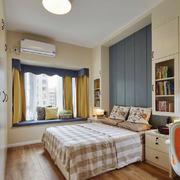 宜家风格三居室室内卧室飘窗装修效果图赏析