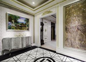 新古典主义风格别墅室内玄关设计装修效果图