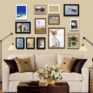 现代简约风格室内精美照片墙装修效果图赏析