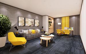 66平米宜家风格清新舒适经理办公室装修效果图