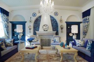 地中海风格精致客厅背景墙装修效果图赏析
