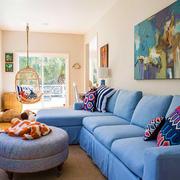 现代风格文艺创意客厅背景墙装修效果图