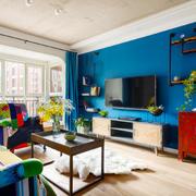 时尚混搭风格客厅电视背景墙装修效果图