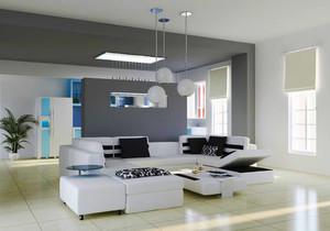 现代简约风格客厅隔断墙装修效果图赏析