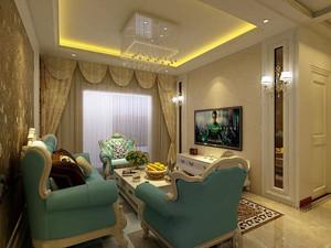 精致欧式风格三室两厅室内装修效果图赏析