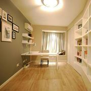 12平米现代风格精致书房设计装修效果图