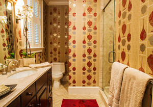 简欧风格精致卫生间瓷砖装修效果图