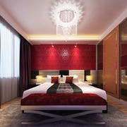 现代风格精致时尚卧室吊灯装修效果图