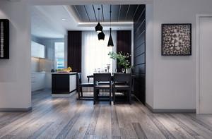 61平米现代简约风格一居室小户型装修效果图