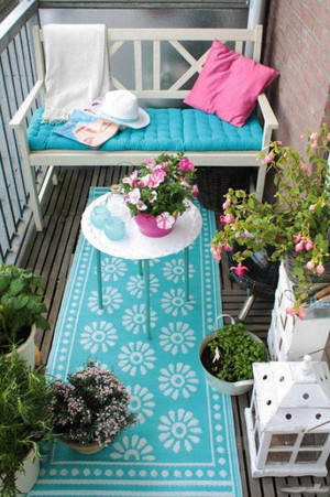 北欧风格唯美文艺阳台花园装修效果图