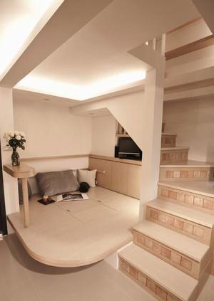 70平米宜家风格原木风小复式楼装修效果图