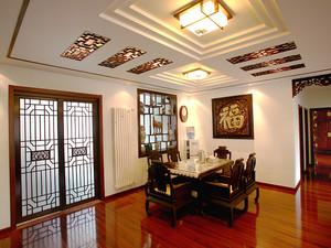 120平米中式风格雅致古典室内装修效果图赏析