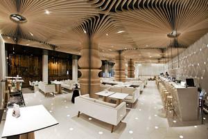 160平米现代风格精致咖啡厅装修效果图