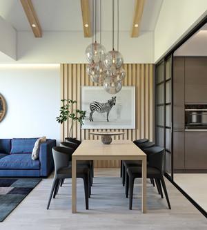 后现代风格极简创意餐厅吊灯设计装修效果图