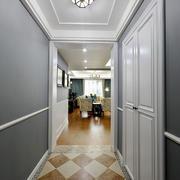 现代美式风格大户型室内过道吊顶装修效果图