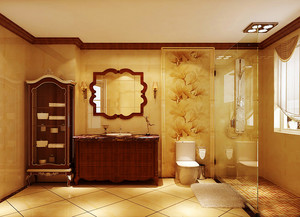 古典欧式风格卫生间装修效果图