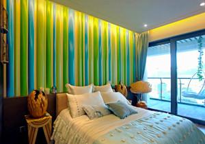 现代简约风格精美卧室背景墙装修效果图