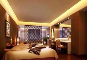 新中式风格古韵犹存卧室隔断设计装修效果图