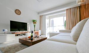 104平米现代简约风格自然轻松三室两厅装修效果图