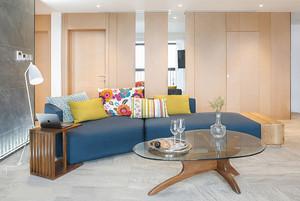 宜家风格温馨自然两室两厅室内装修效果图