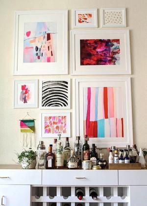 时尚简约风格室内照片墙装修效果图大全