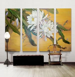 中式风格室内精美客厅装饰画装修效果图