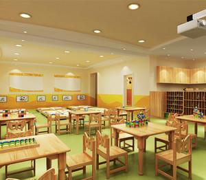 60平米现代简约风格幼儿园环境布置效果图