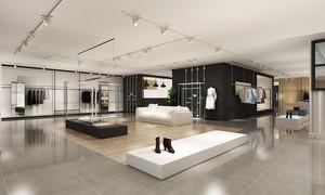 80平米现代简约风格服装店设计装修效果图