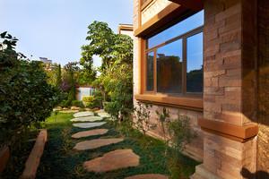 美式乡村风格别墅花园设计装修效果图