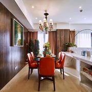 后现代风格大户型室内餐厅背景墙装修效果图