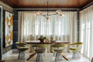 东南亚风格简约餐厅窗帘装修效果图赏析