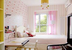 现代风格浅粉色儿童房装修效果图