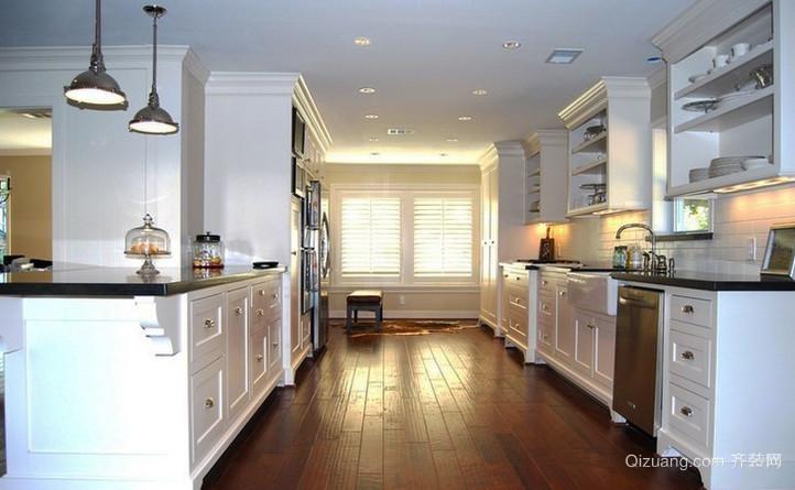 现代风格厨房实木复合地板装修效果图大全