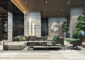 150平米后现代风格复式楼室内装修效果图