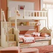 简欧风格温馨粉色双层儿童床设计装修效果图