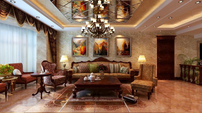 古典欧式风格客厅吊顶装修效果图赏析