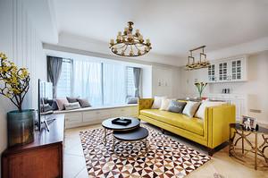 清新美式风格大户型室内装修效果图赏析