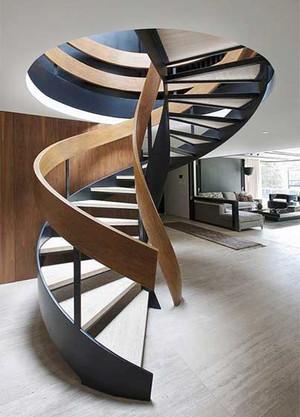 现代风格精致旋转楼梯设计装修效果图大全