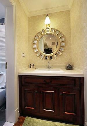 美式风格精致卫生间浴室柜设计装修效果图