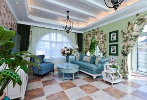 160平米地中海风格清新自然别墅装修效果图赏析