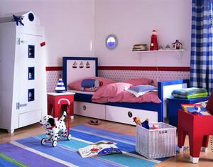 现代简约风格创意男生儿童房装修效果图